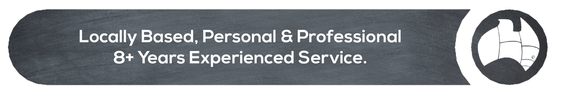 """""""Locally based personal & professional 8+ years experienced service"""" written on grey background"""