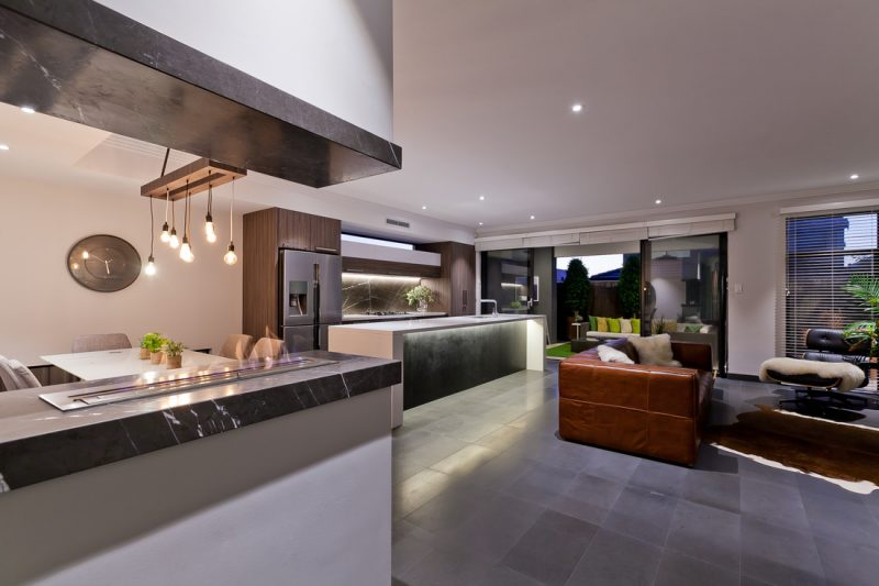 interior of modern kitchen design