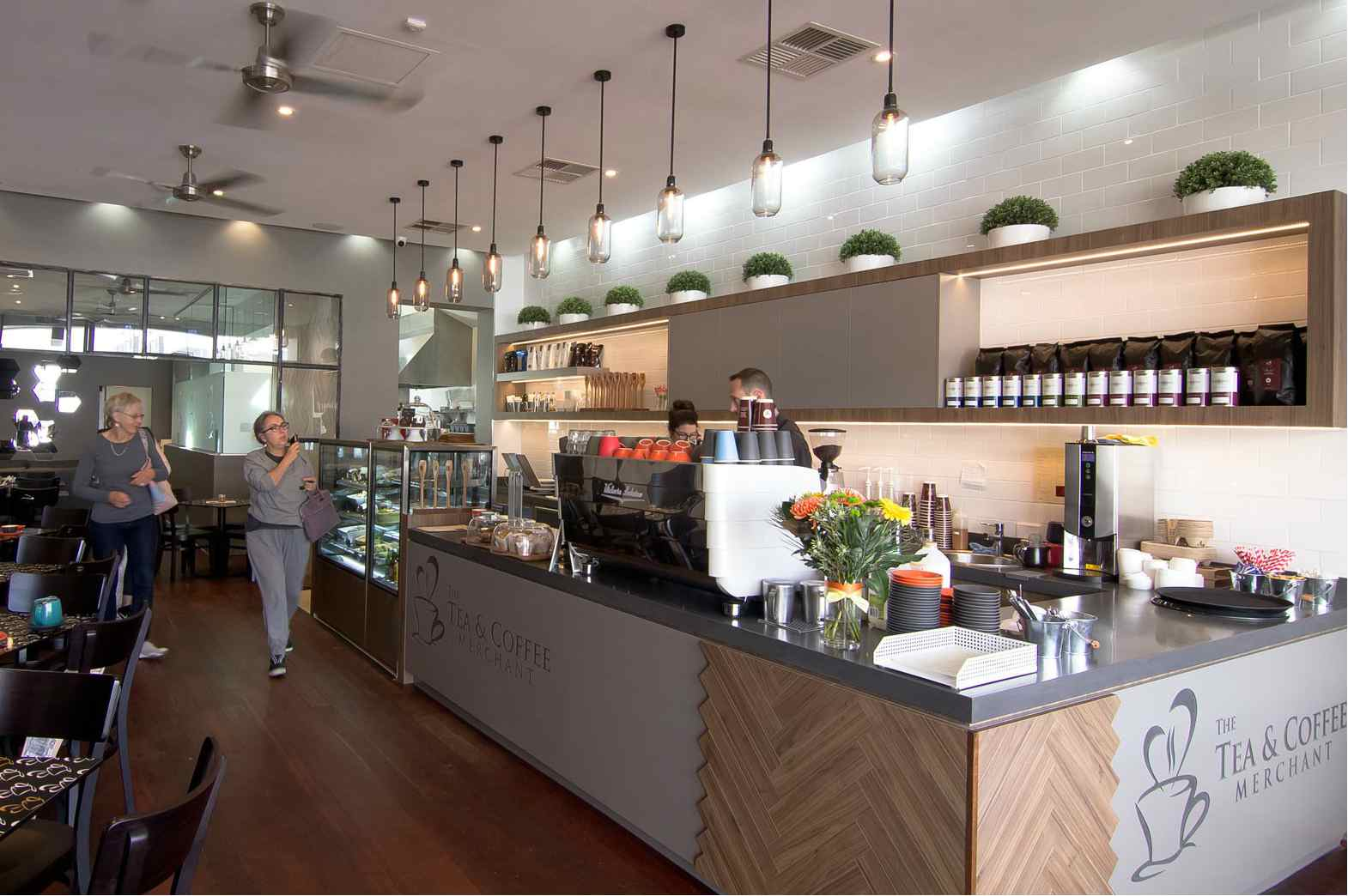 Tea & coffee merchant cafe design in Perth