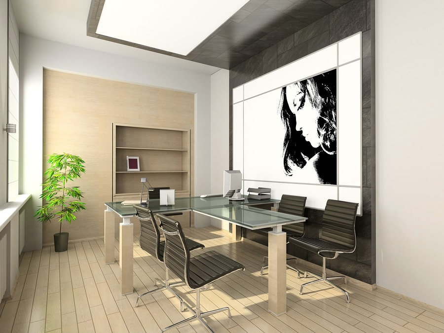 creative bright office layout